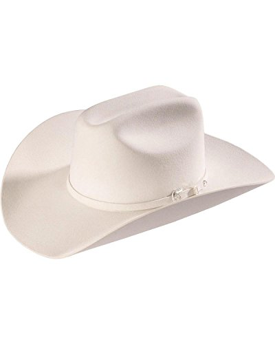 Resistol Men's 2X Pageant Wool Felt Cowboy Hat White 7 1/8 by Resistol