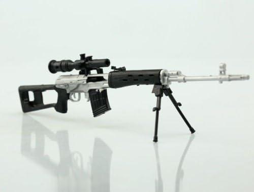 "1//6 Weapon Model Silver White SVD Dragunov Sniping Rifle Gun arms F 12/""  Figure"