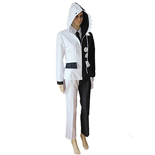 Bleach Halloween Episode (Vokaer Black and White Bears Cosplay Costume Dangan Ponpa Suit Training Uniform Be Unisex Top Blazer)