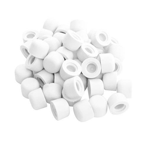 Premium Door Stop Replacement Rubber Tip, White (50 Pack)