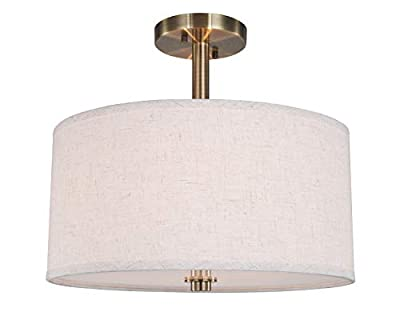 Woodbridge Lighting 13435BRB-S11500 Close to Ceiling Light Fixtures White