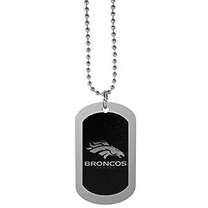 """NFL Denver Broncos Chrome Tag Necklace, 26"""""""
