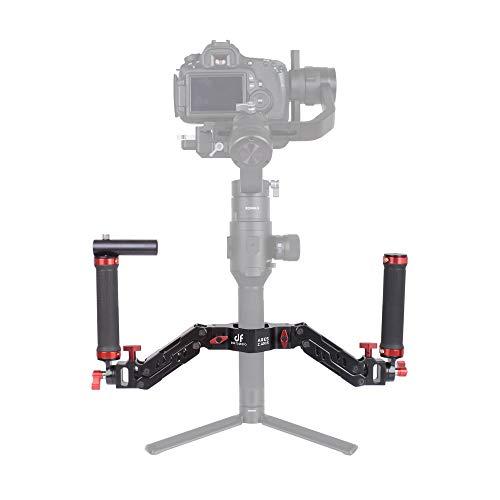 DIGITALFOTO Ares Z Axis Spring Dual Handle, Flexiable Damping Detachable Dual Grip Gimbal Handle Compatible for ZHIYUN Crane 2 MOZA FEIYU DJI Ronin S AK2000/4000 Moza Aircross 3 Axis Gimbal