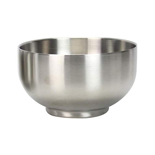 FineInno 1 Pack Stainless Steel Bowl Double-walled Heat Insulated bowl SUS 304,Light Weight Brushed,FDA Approved,BPA Free, 400ml(13.5oz)/ 500ml(17oz) (1 pcs 500ml(17oz) bowl)