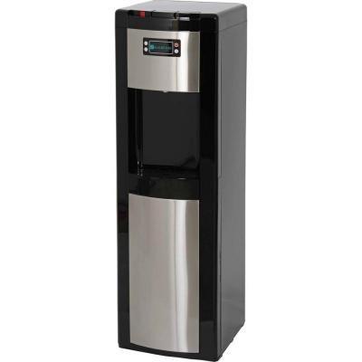 Dispensador de agua en acero inoxidable Cuenta parte inferior, de carga sensor electrónico de control de nivel de agua y alta eficiencia Compresor, Negro ...