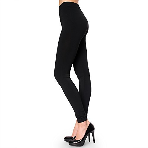 Price comparison product image Sofra Womens Stretch Opaque Footless Tights Black O / S