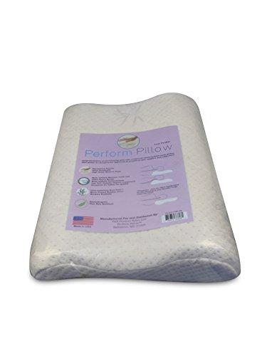 low profile memory foam neck pillow double contour