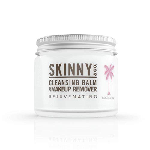 SKINNY and CO. Cleansing Balm (2oz) Coconut Oil and Essential Oils. Makeup Remover, Cleanser, Moisturizer. Chemical Free (Rejuvenating)