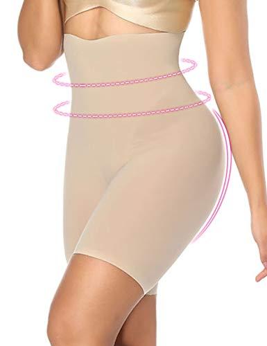 - Wonder-Beauty Womens Body Shaper Shapewear Tummy Control Shorts High-Waist Panty Mid-Thigh Bodysuit Nude S