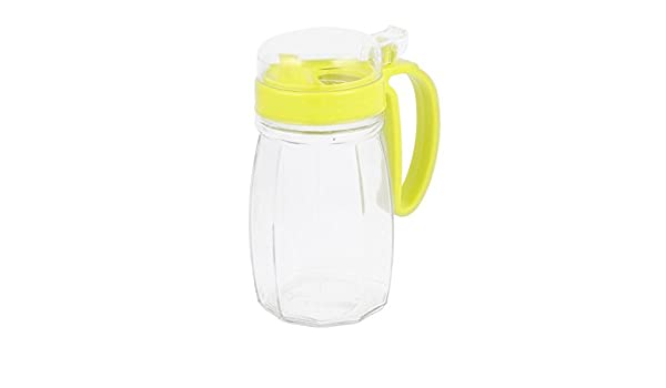 Amazon.com: eDealMax de cristal con tapa casera de la cocina Shanked Aceite Vinagre Salsa Pot botella 620ml: Kitchen & Dining