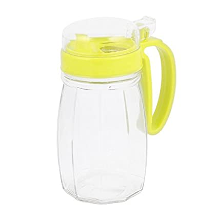 eDealMax de cristal con tapa casera de la cocina Shanked Aceite Vinagre Salsa Pot botella 620ml