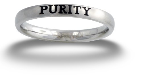 RSPU Forgiven Jewelry-PURITY Text Stainless Steel Ring size 8 Christian Jewelry-Christian Jewelry (Purity Rings For Teens compare prices)
