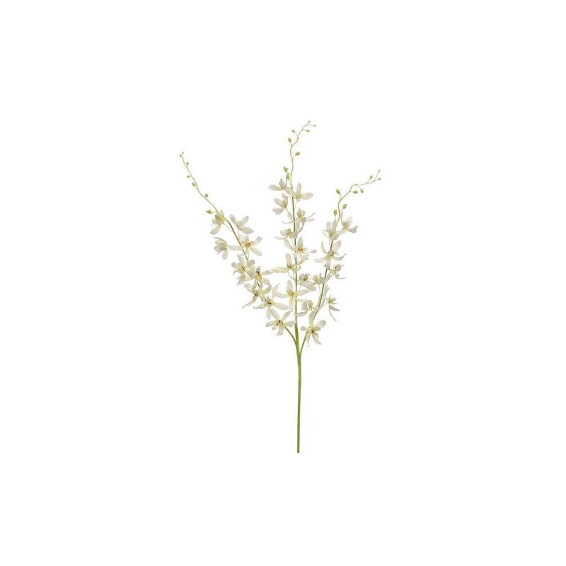 """silk flower arrangements 39"""" dendrobium orchid spray x3 cream (pack of 12)"""