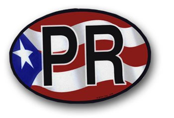 Puerto Rico - Wavy Oval Decal -