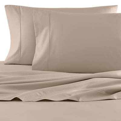 Wamsutta 620 Thread Count 100% Egyptian Cotton Twin Sheet Set in Canvas