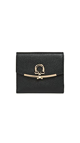 Salvatore Ferragamo Women's Gancino Clip Wallet, Nero, One Size by Salvatore Ferragamo