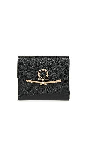 Salvatore Ferragamo Women's Gancino Clip Wallet, Nero, One Size by Salvatore Ferragamo