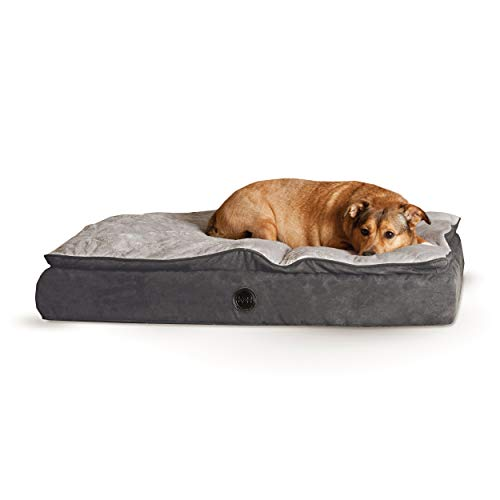 - K&H Pet Products Feather-Top Ortho Pet Bed Medium Charcoal/Gray 30