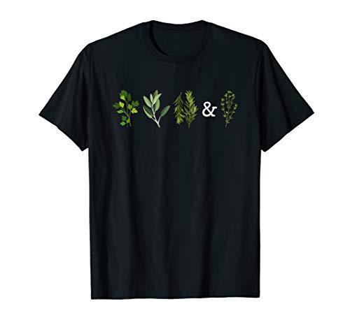 Garden Herbs Parsley Sage Thyme Rosemary Shirt for Women (Herb Shirt)