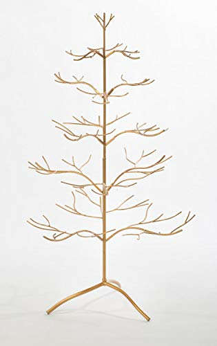 Darice 5202-12 Brass Display with 6 Hangers 12-Inch