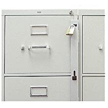 Locking Bar for Use with 1 Drawer Filing Cabinet (cabinet not included) by ABUS