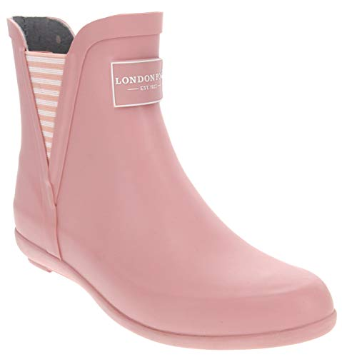 London Fog Womens Piccadilly Rain Boot Pale Pink 11 M US