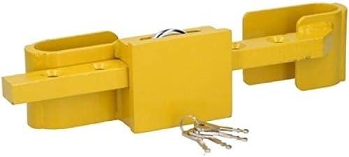 Invero Container Lkw Anhängerschloss Hochsicherheitsschloss Aus Gehärtetem Stahl Mit Sicherheits Vorhängeschloss Und 4 Schlüsseln Im Lieferumfang Enthalten Baumarkt
