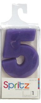 Spritz Molded # 5 Birthday Candle Purple (1 Count)