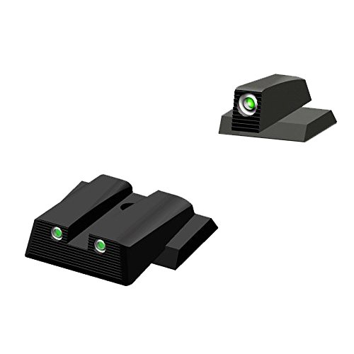 HIVIZ MPN121 Smith & Wesson NITESIGHT Front and Rear Handgun Sight Set by HIVIZ