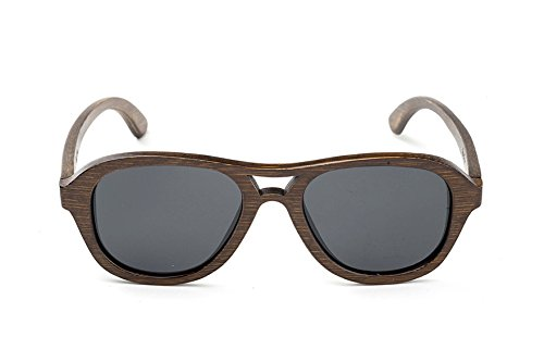 Swell Vision Avalon Brown Bamboo Sunglasses with Smoke Polarized - Sunglasses Avalon