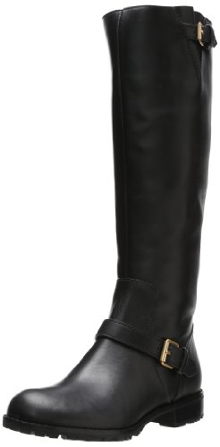 Marc by Marc Jacobs Women's Buckle Strap Moto Boot,Black,40 EU/10 M US