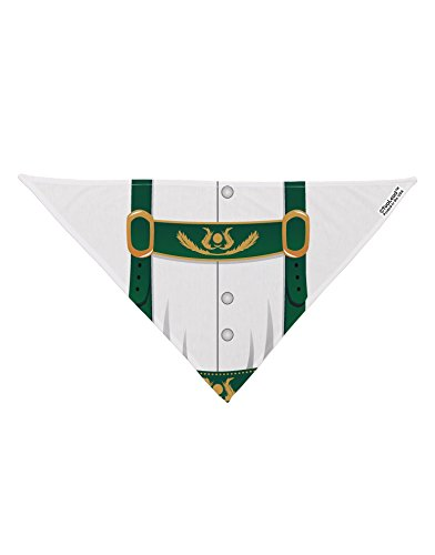 TooLoud Lederhosen Costume Green Printed White Dog Bandana 26
