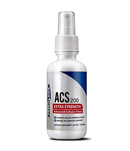 Results RNA ACS 200 Extra Strength Colloidal Silver | 4 Ounce Spray Bottle - Advanced Cellular Silver For Highly Effective Immune System Support by Results RNA