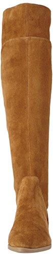 AldoCyndy - Botas mocasín sin forro de caña alta Mujer Cognac