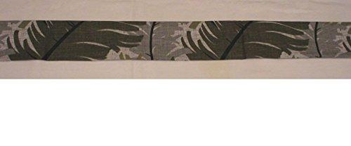 Handmade Door Draft Stopper Blocker UNFILLED, Grey Foliage Neutral (DraftBlocker6191)