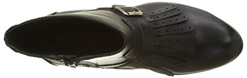 black 01 Leather Para 67 P2173a Negro B195a Botas Shoes Mujer Pu Buffalo wgZvxOqA