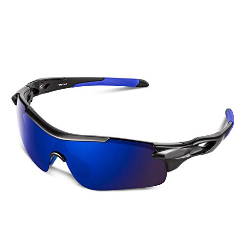 Polarized Sports Sunglasses for Men Women Youth Baseball Cycling Running Driving Fishing Golf Motorcycle TAC Glasses
