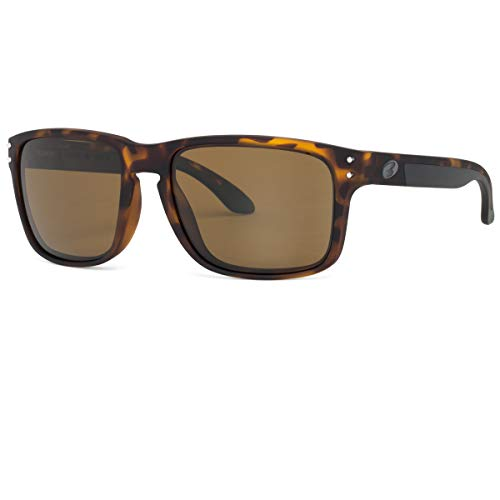 BNUS Italy made Classic Sunglasses Corning Real Glass Lens w. Polarized Option (Tortoise Rubber/Brown B15 Polarized, Polarized ()