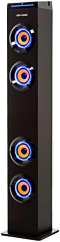 Art+Sound AR1004 Bluetooth Tower Speaker with Lights, Floorstanding  Speaker For TV, Music, Tower Speaker for Home with FM Radio, Floor Speaker