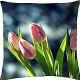 Pink Tulips - Throw Pillow Cover Case (18