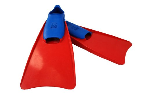 - Swim Research Swim Training Floating Fins for Leg Strength and Aquatic Water Exercise - Swimming Pool Equipment Swimfin (3-5 Blue/Red)