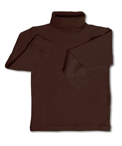 Leveret Solid Turtleneck 100% Cotton (5 Toddler, Brown) ()