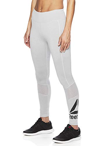 Reebok Women's Legging Full Length Performance Compression Pants - Grey Ash Heather, Medium (Best Compression Pants For Crossfit)