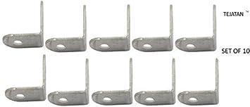 Corner Brace Set (Also know as - Corner Braces, L Bracket, angle Brackets, Right angle bracket, L shaped bracket, angle brace, metal angle brackets, angle brackets, angle support brackets) Yumore