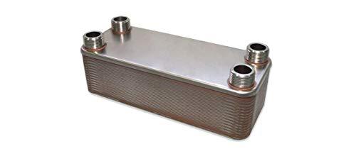WiseWater 30 Plate Heat Exchangers for Wood Boiler/Radiant Heating, 350k Btu/hr, Dimensions: 4-1/4