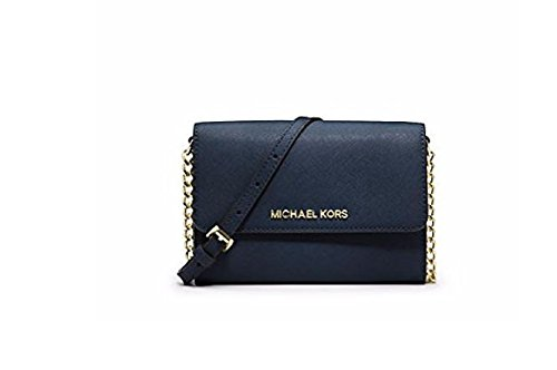 Michael Kors Jet Set Large Phone Crossbody Bag - Navy by Michael Kors