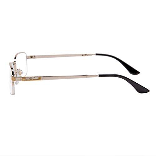 Bluelover Shuaidi Anti-Fatica Pieghevole Half Frame Doppio Colore Di Metallo Placcato Presbyopic Occhiali Da Lettura - 2,0