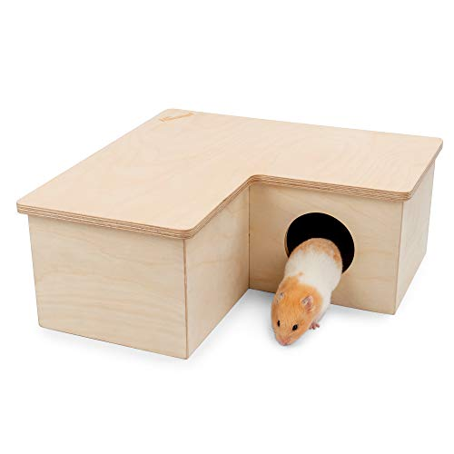 Niteangel Multi-Chamber Hamster House Maze: – Multi-Room Hideouts & Tunnel Exploring Toys for Hamster Gerbils Mice Lemmings Rats and Other Small Rodents (3-Room Large)