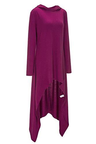 Semplice Rotondo Cappuccio Casual Pullover Di Eleganti Irregular Con Manica Hoody Primaverile Monocromo Lunga Moda Glamorous Collo Donna Qualit Alta 6PHSq