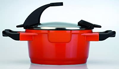 BergHOFF Virgo 7.7 Quart Non-Stick Stock Pot, Red
